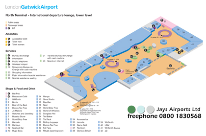 Download Gatwick North Terminal Maps (Aug 2012) 1.08Mb