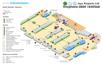 Download Gatwick South Terminal Maps (Aug 2012) 1.19Mb