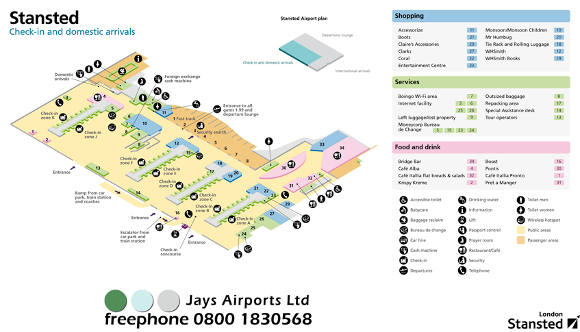 Download Stansted Terminal Maps (May 2012) 570Kb